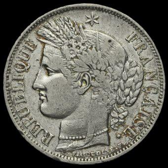 France 1849 Silver 5 Francs Obverse