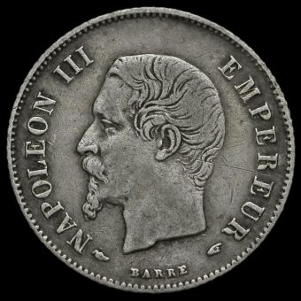 France 1855 Napoleon III Silver 20 Centimes Obverse
