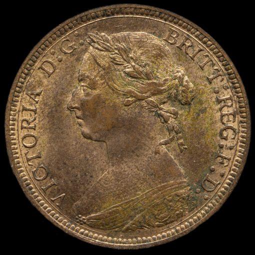 1887 Queen Victoria Halfpenny Obverse