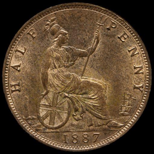 1887 Queen Victoria Halfpenny Reverse