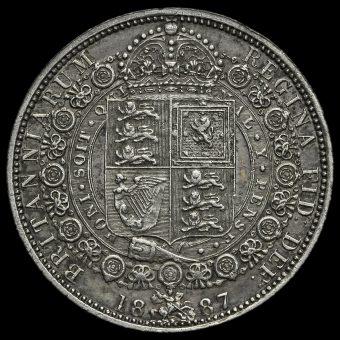 1887 Queen Victoria Jubilee HeadSilver Half Crown Reverse