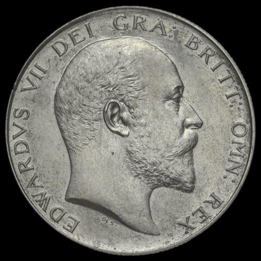 1902 Edward VII Silver Matt Proof Half Crown Obverse