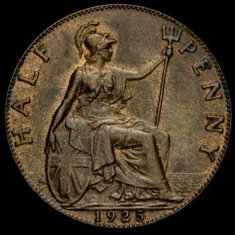 1925 George V Halfpenny Reverse