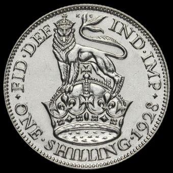 1928 George V Silver Shilling Reverse
