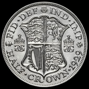 1929 George V Silver Half Crown Reverse
