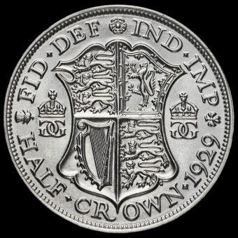 1929 George V Silver Half Crown Reverse