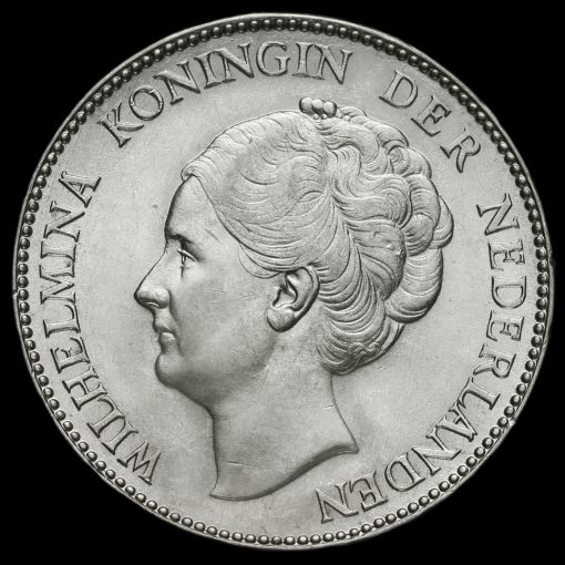 Netherlands 1930 Silver 1 Gulden Obverse