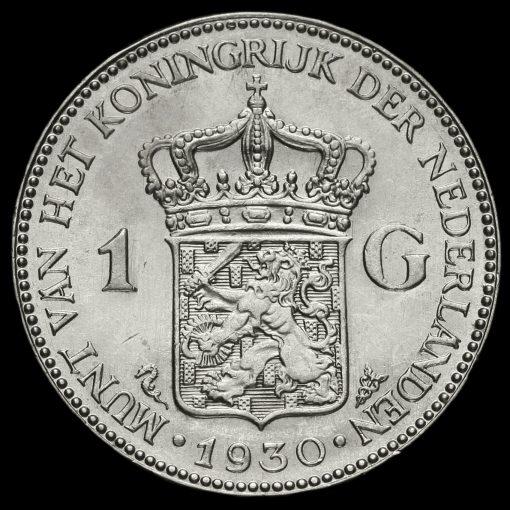 Netherlands 1930 Silver 1 Gulden Reverse