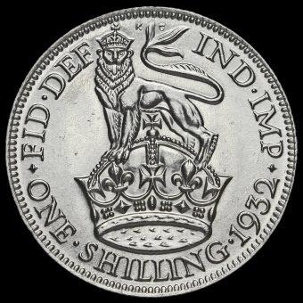 1932 George V Silver Shilling Reverse