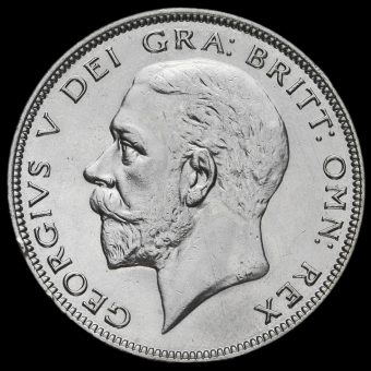 1933 George V Silver Half Crown Obverse