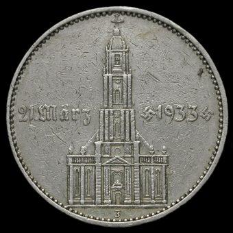 Germany 1934 J Silver 5 Reichsmark Reverse