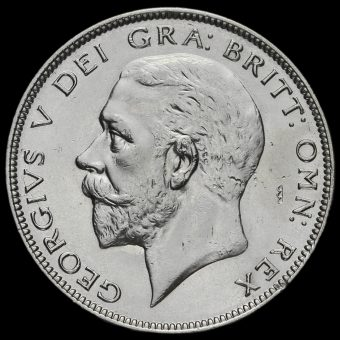 1934 George V Silver Half Crown Obverse