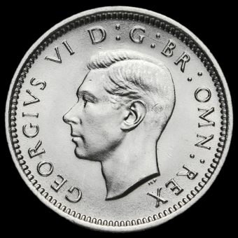 1938 George VI Silver Threepence Obverse