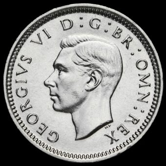 1942 George VI Silver Threepence Obverse