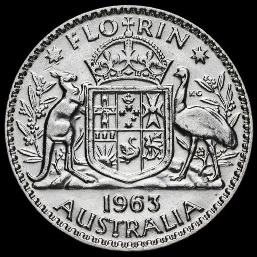 Australia 1963 Elizabeth II Silver Florin Reverse
