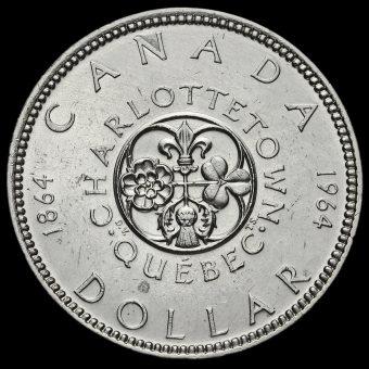 Canada 1964 Elizabeth II Silver Dollar Reverse