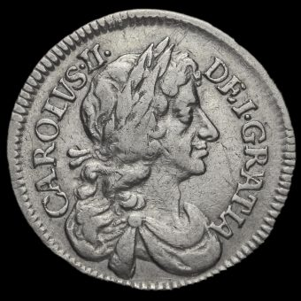 1679 Charles II Early Milled Silver Maundy Fourpence Obverse