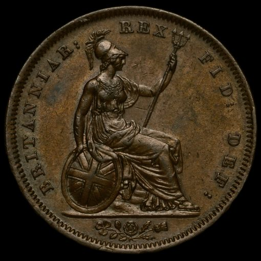 1826 George IV Milled Copper Penny Reverse