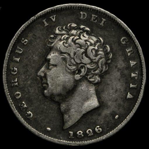 1826 George IV Milled Silver Shilling Obverse