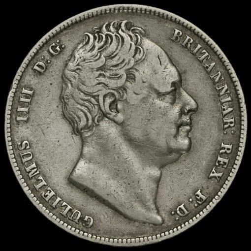 1837 William IV Milled Silver Half Crown Obverse