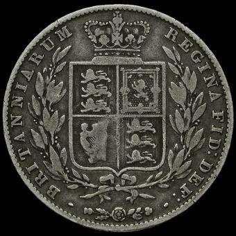 1846 Queen Victoria Young Head Silver Half Crown Reverse