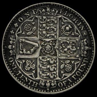 1849 Queen Victoria Godless Florin Reverse