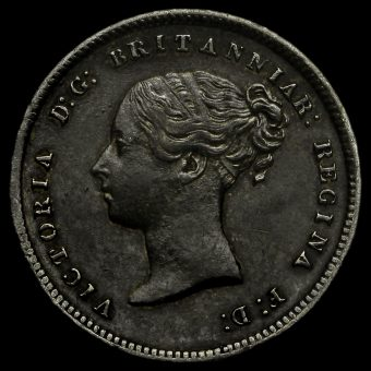 1852 Queen Victoria Young Head Silver Maundy Fourpence Obverse