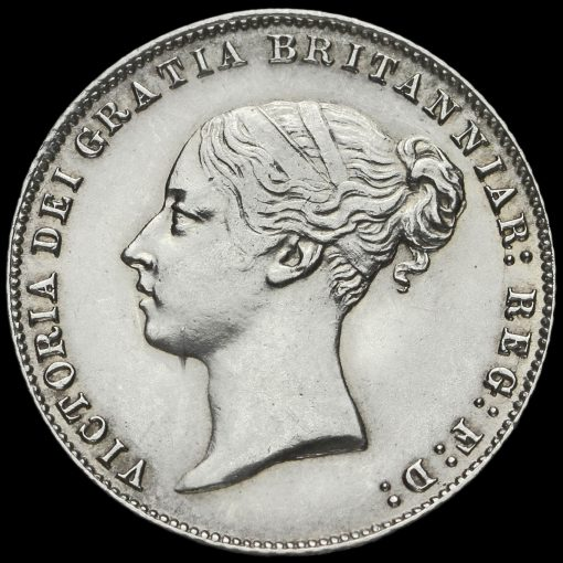 1859 Queen Victoria Young Head Silver Sixpence Obverse