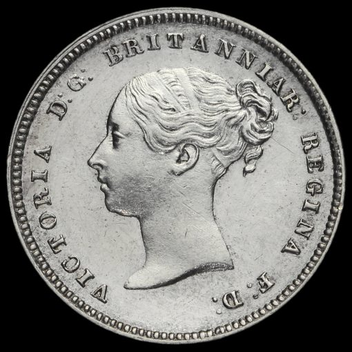 1874 Queen Victoria Silver Maundy Fourpence Obverse