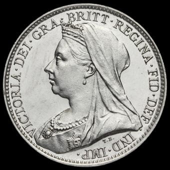 1899 Queen Victoria Veiled Head Silver Maundy Fourpence Obverse