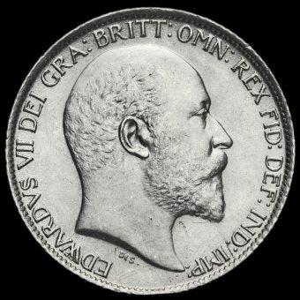 1905 Edward VII Silver Sixpence Obverse