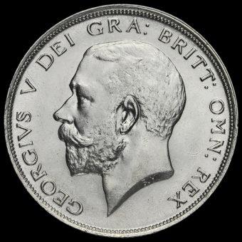 1911 George V Silver Half Crown Obverse
