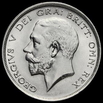 1919 George V Silver Half Crown Obverse