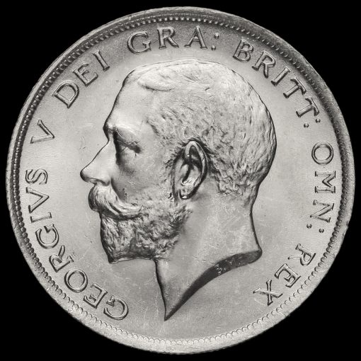1919 George V Silver Half Crown Obverse