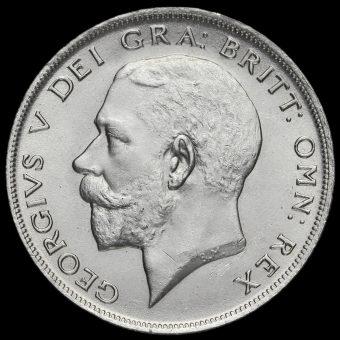 1921 George V Silver Half Crown Obverse