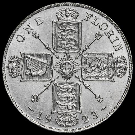 1923 George V Silver Florin Reverse