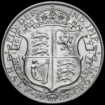 1927 George V Silver Half Crown Reverse