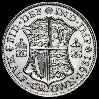 1931 George V Silver Half Crown Reverse