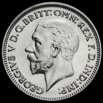 1933 George V Silver Sixpence Obverse