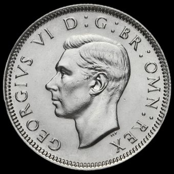 1937 George VI Silver English Shilling Obverse