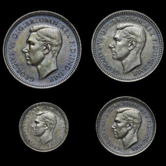 1937 George VI Silver Proof Maundy Set Obverse