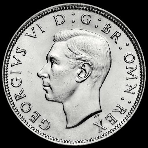 1944 George VI Silver Half Crown Obverse
