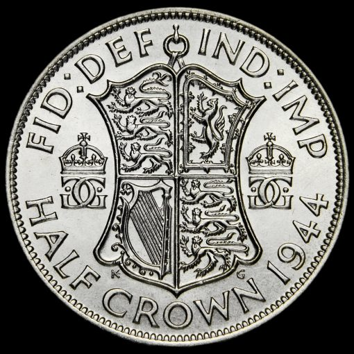 1944 George VI Silver Half Crown Reverse