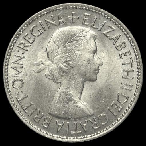 1953 Queen Elizabeth II Half Crown Obverse