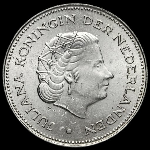 Netherlands 1970 Silver 10 Gulden Obverse