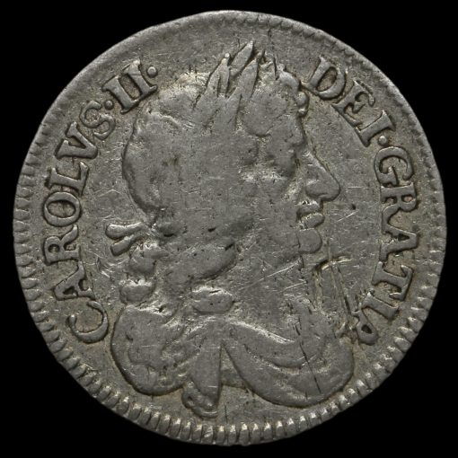 1670 Charles II Early Milled Silver Maundy Fourpence Obverse