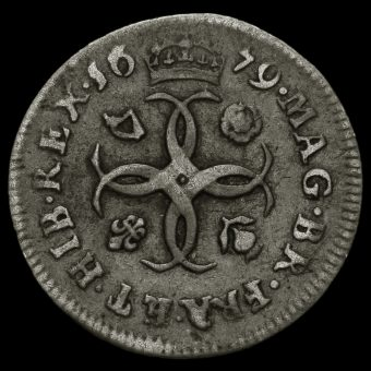 1679 Charles II Early Milled Silver Maundy Fourpence Reverse