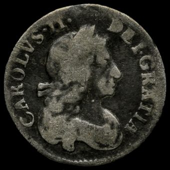 1681 Charles II Early Milled Silver Maundy Threepence Obverse