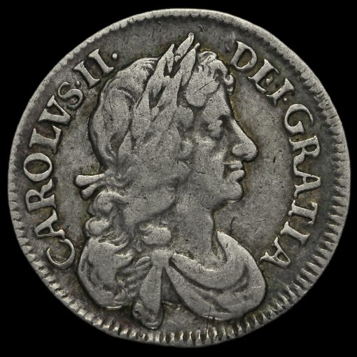 1683 Charles II Early Milled Silver Maundy Fourpence Obverse