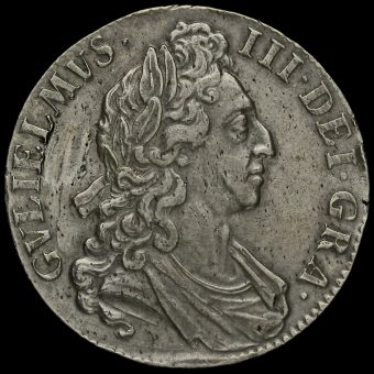 1695 William III Early Milled Silver Octavo Crown Obverse